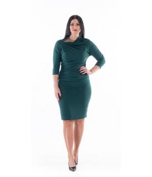 Zelené úpletové šaty s...