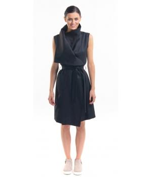 Vlněné vestové šaty bez rukávů